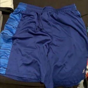 Nike, adidas, Under armour shorts.